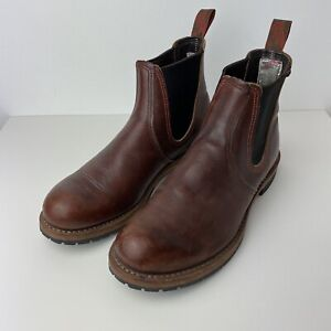 Red Wing Shoes 2917 Chelsea Rancher Mens Brown Boots Size Uk8.5 Eu42