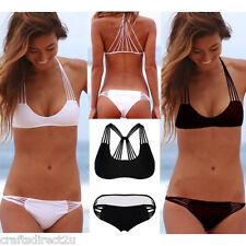 Sexy Swimwear  String Racerback Top Bikini Set RED, WHITE, BLACK or TURQUOISE