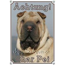 Warnschild - chinesischer Faltenhund - SHAR PEI - Hundeschild - Metallschild -