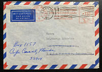 1964 Frankfurt Germany Meter Cancel Airmail Cover To Lafayette IN USA