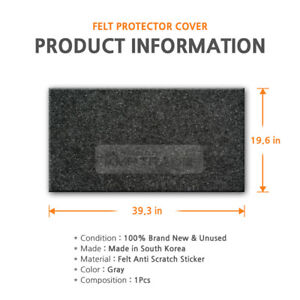 39.3?X 19.6?Felt Gray DIY Anti Scratch Cover 1EA for RENAULT SSANGYONG Vehicle