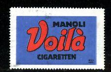 Germany poster stamp Cigarette Advertising Manoli Voila Bernhard Artist