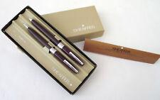 Vtg Sheaffer White Dot Triumph 330 Burgundy Ballpoint Pen Mechanical Pencil Box