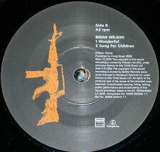 "*<* SALE! UK-only BRIAN WILSON MINT 45 ""WONDERFUL"" + RUFUS WAINWRIGHT version!"