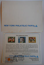 1985 New York Philatelic Fair - The Grimm Brothers Cachet