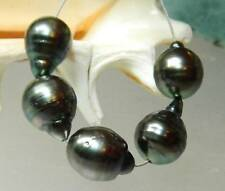 5 BLACK TAHITIAN SOUTH SEA SALTWATER PEARLS STRAND BAROQUE 12-14mm HIGH LUSTER