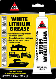 """AGS"" WHITE LITHIUM GREASE 1.25 oz. WL-1H"