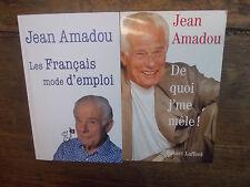 Jean Amadou Les français mode d'emploi + de quoi j'me mêle ! Lot de 2 livres