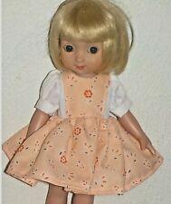 Sweet Peach Colored - Dress - Custom Made For 10 inch - Ann Estelle