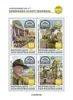 Central African Rep Scouting Stamps 2020 MNH World Scout Jamboree Scouts 4v M/S