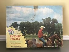 Rare Vintage Tuco Interlocking Picture Puzzle: Wide Open Spaces No. 951