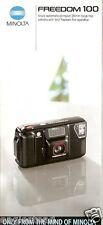Camera Brochure - Minolta - Freedom 100 Quartz Date 101 200 202 Set of 5 (CB80)