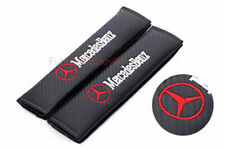 Car Seat Safety Belt Pad Cover Shoulder Strap Cushion Logo For Mercedes-Benz