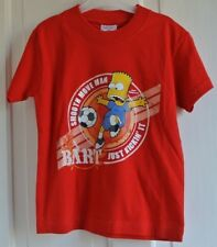 New Simpsons football 100% cotton T-shirt Red age 5-6