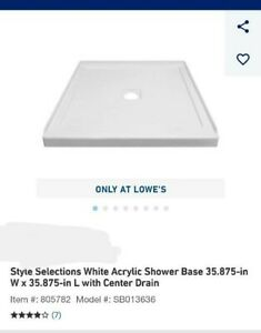 "DreamLine DLT-1136360 SlimLine 36 x 36"" Shower Base"