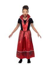 Vampire Costume Princesse, Halloween Enfant Déguisement, Grand Âge 10-12