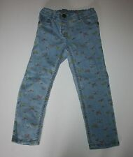 New NEXT UK Girls Butterfly Pants size 4T 5T 110cm NWT Jeans Adjustable Waist