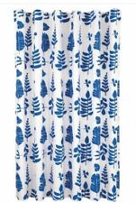 Room Essentials Blue Leaves Shower Curtain Blue / White