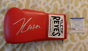 Julio Cesar Chavez signed autographed Cleto Reyes boxing glove PSA COA #AI75738
