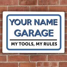 Personalised Custom GARAGE Service TOOLS Rules Car vehicle UK VINTAGE METAL SIGN