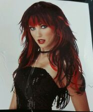 Tempting Tresses Red Black Long Hair Sexy Halloween Costume wig New