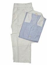 Brioni Blue White 100% Cotton Striped Pajamas