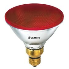 BULBRITE 683907 90PAR/H/RED 90W DIMMABLE RED HALOGEN FLOOD LIGHT LAMP