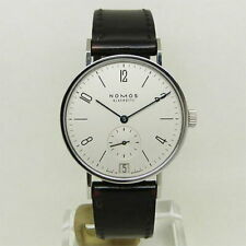 NOMOS TANGENTE Hand-Winding Date Wristwatch SS Silver Dial 35mm Men's Authenti