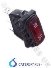 Neón rojo Rocker interruptor On / Off C/w Bellow Sello 30x11mm 3 Pin Terminal 220/240v