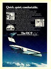 1977 AD McDonnell Douglas DC-9 Jet Aircraft photo Quick Quiet Vintage Print Ad