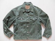 Levi's® Biker Jacke Jeansjacke Gr. S, Oliv ! green Vintage Coloured Denim, RAR !