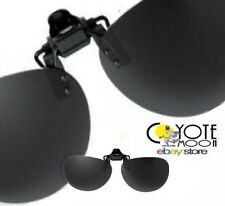 Clip On Flip Up Sunglasses Polarised,Cycling,Driving,,Fishing,Black UK Seller