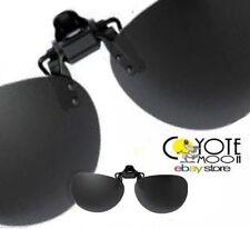 Levante Clip en Gafas de sol polarizado, ciclismo, conducir, visión nocturna, pesca, Negro