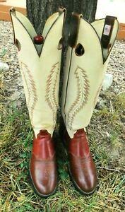 Olathe Tall Buckaroo Bronco Riding Cowboy Boots 9.5D Really Cool Boots