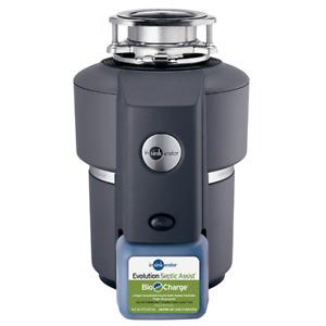 Insinkerator Evolution Septic Assist Garbage Disposal,Evolution,3/4 Hp BRAND NEW