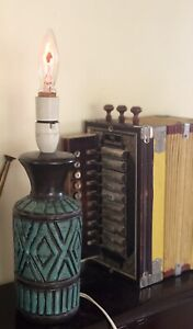 Vintage Mid Century BITOSSI Italy Lamp Pottery Base 1960's Working
