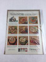 Vintage 1962 Heinz Meals Food Art Print Collectible Advertisement 10.5 x 13.5