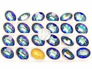 Bermuda Blue GF (20x15mm) Vintage Swarovski Oval Fancy Cut Stone