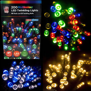 200LED Super Bright Indoor Outdoor Christmas Party Twinkling Lights Decoration
