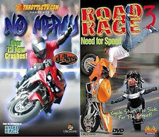 ROAD RAGE & NO MERCY (Lot of 2) New Biker Stunts DVD's FACTORY SEALED Best Price
