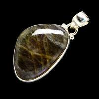 "Labradorite 925 Sterling Silver Pendant 1 3/4"" Ana Co Jewelry P701642F"