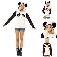 UK Women Girl Cute Panda Hoodies Sweatshirt Hooded Pullover Tops Blouse Gift Lot
