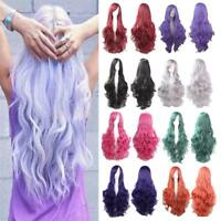 Women 80cm Long wavy Cosplay Wig Heat Resistant Fiber Natural Synthetic Full Wig