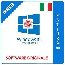 LICENZA WINDOWS 10 PRO PROFESSIONAL 32/ 64 BIT PRODUCT KEY ESD FATTURA ITALIANA