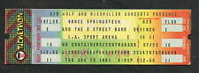 1981 Bruce Springsteen unusede full concert ticket The River Tour  Los Angeles