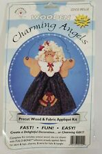 Wooden Charming Angels Craft Kit Belle Pre-Cut Wood And Fabric Appliqué