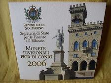 San Marino  KMS 2006 st  mit 5 Euro Silber  Delfico