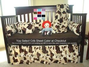 Western Crib Bedding Set Brown Cow Baby Bedding