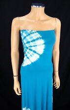 INC INTERNATIONAL CONCEPTS Maxi Dress SMALL Convertible Ocean Blue Silver Studs