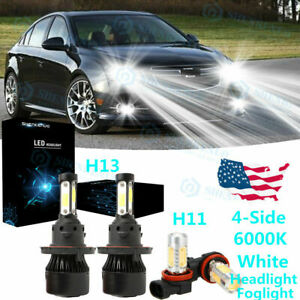 LED Headlight Protekz Kit 9008 H13 6K Hi Lo for 2013-2016 Mini COOPER PACEMAN